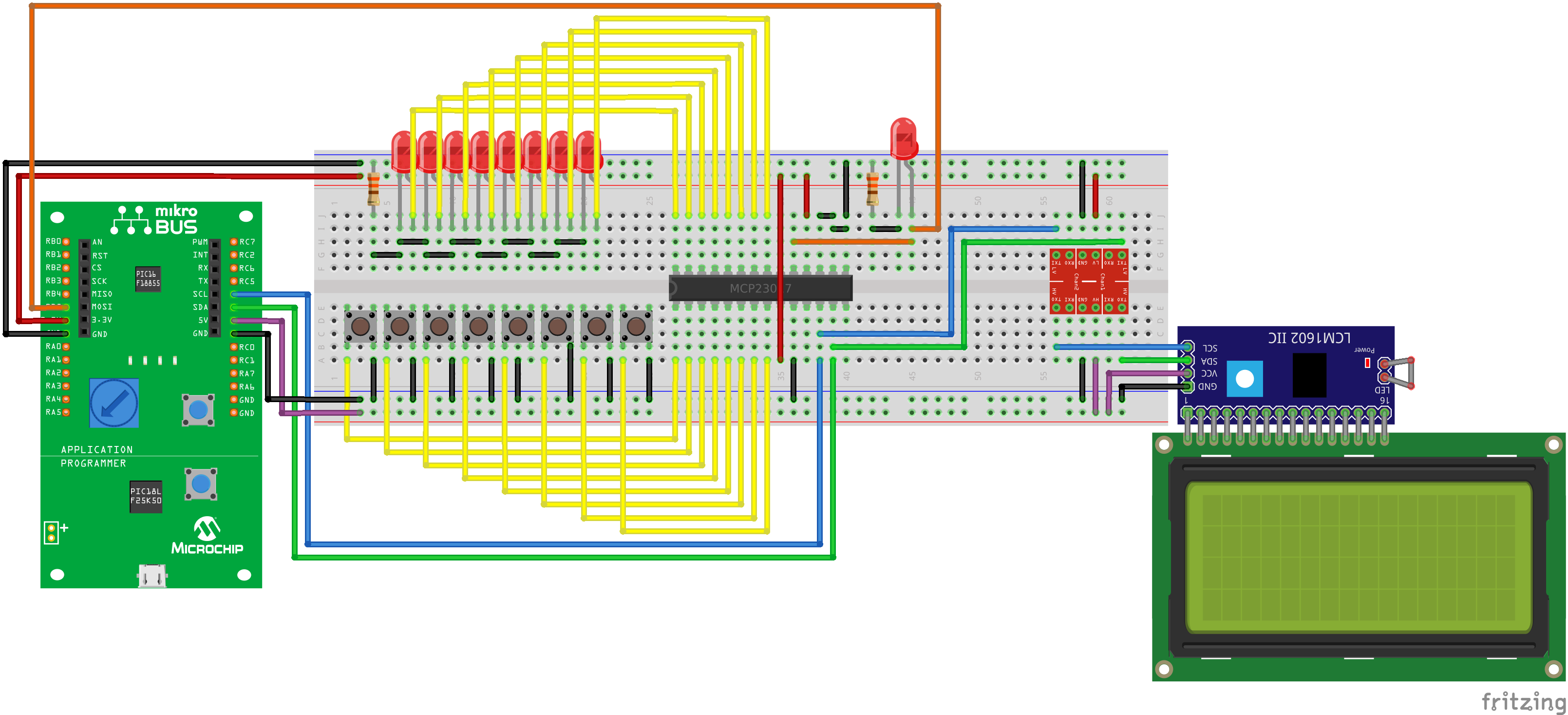 PIC16F18855/75 with MCP23017 GPIO Extender – My Personal Blog